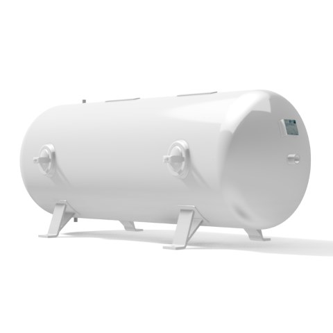 High pressure vessel 1000 litre horizontal 17 to 41 bar