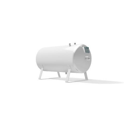 High pressure vessel 150 litre horizontal 17 to 41 bar