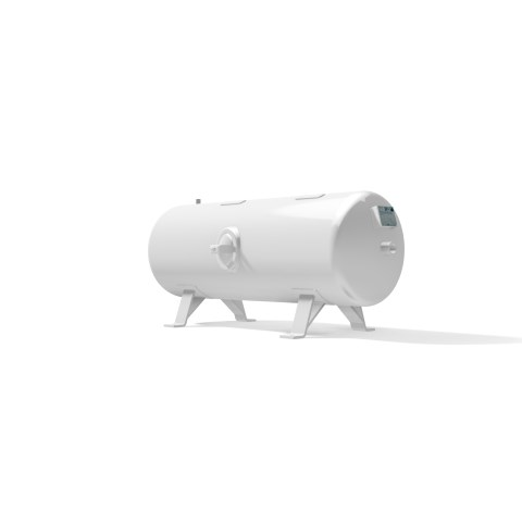 High pressure vessel 250 litre horizontal 17 to 41 bar