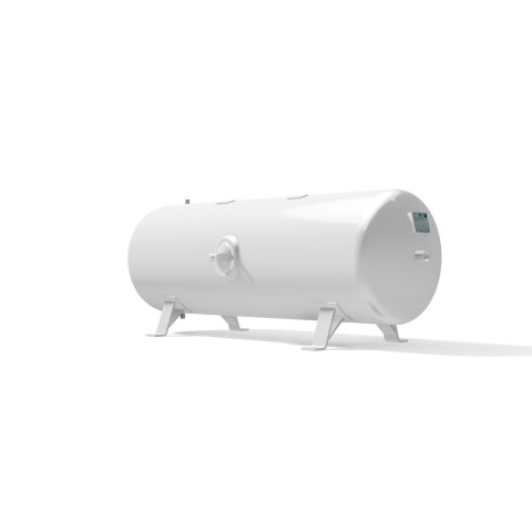 High pressure vessel 500 litre horizontal 17 to 41 bar