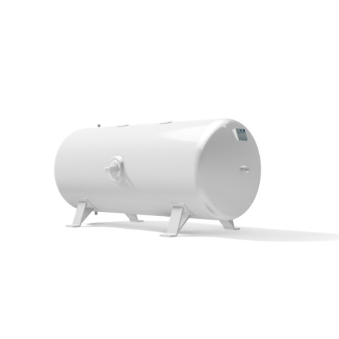 High pressure vessel 750 litre horizontal 17 to 41 bar