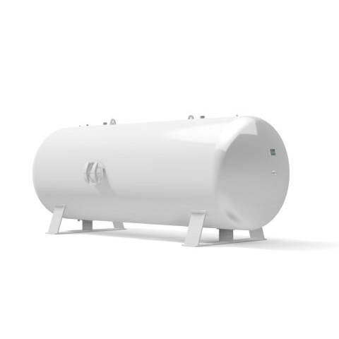 Pressure vessel 9.000 litre horizontal 16 bar