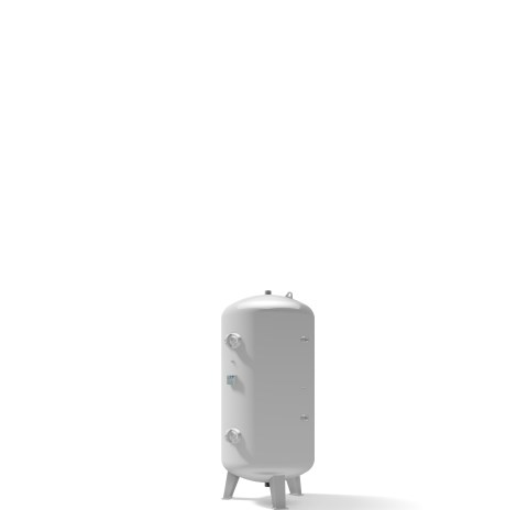 Pressure vessel 1.500 litre vertical 11 bar